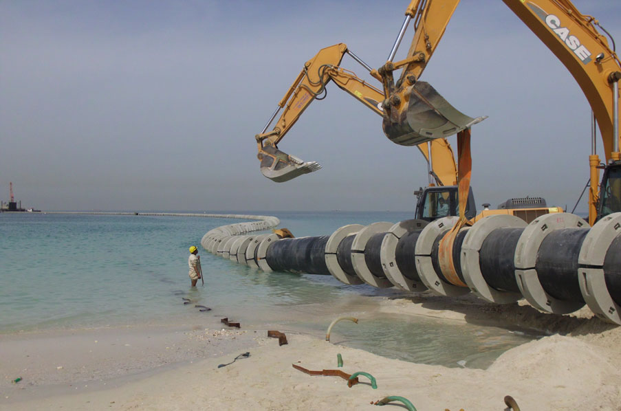 Pipeline installation for Desalination Plant UAE | Union Dredgers