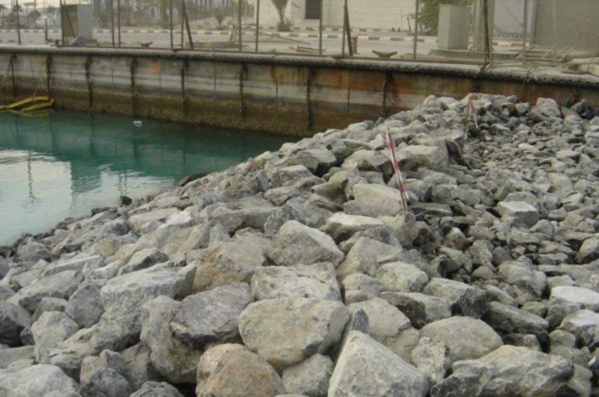 Revetment Scour Protection