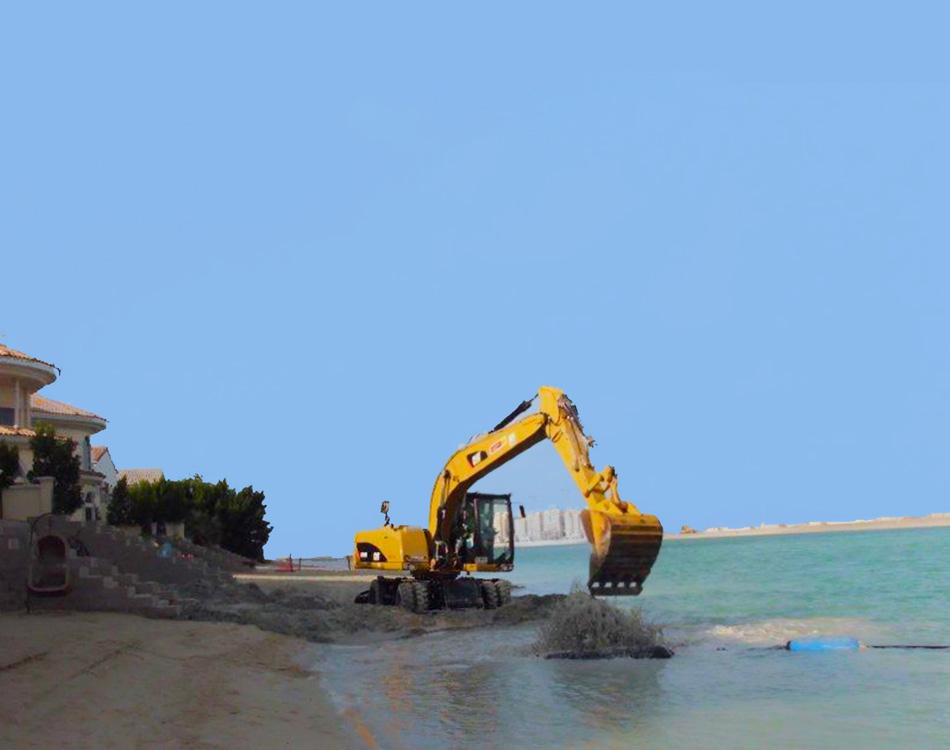 beach profiling work